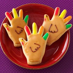Handprint Turkey Cookies Recipe
