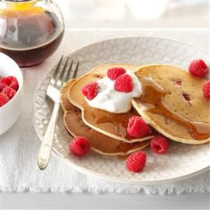 Lemon-Raspberry Ricotta Pancakes Recipe