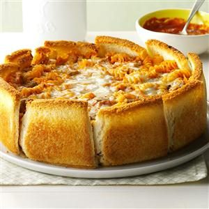 Garlic Bread Pasta Torte Recipe