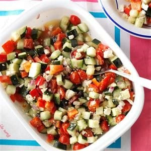 Garden Cucumber Salad Recipe