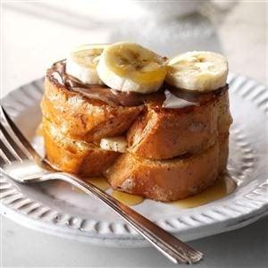 banana hazelnut pain perdu duet recipe taste of home. Black Bedroom Furniture Sets. Home Design Ideas