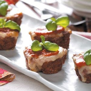 Pizza Meat Loaf Cups Recipe