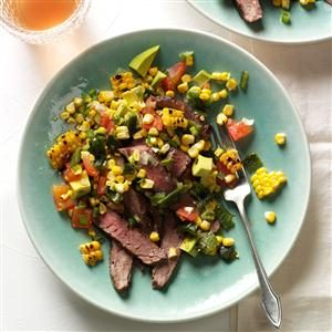 Grilled Flank Steak with Summer Relish Recipe