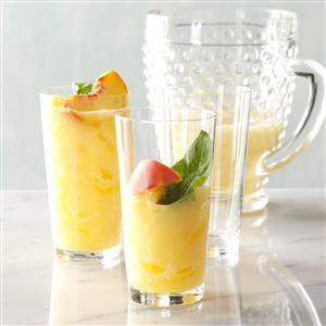 Peach-Basil Lemonade Slush Recipe