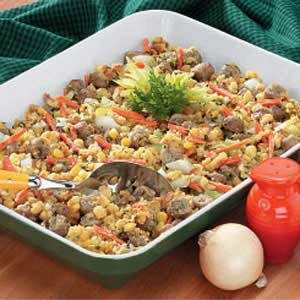Sausage with Corn Stuffing Recipe