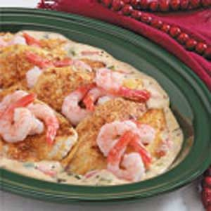 Creole Flounder with Seafood Sauce Recipe