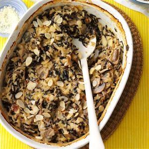 Menu #1 Side Dish:  Wild Rice Mushroom Bake