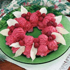 Raspberry Sherbet Wreath Recipe