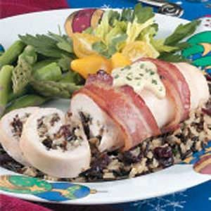 Chicken with Cranberry Stuffing