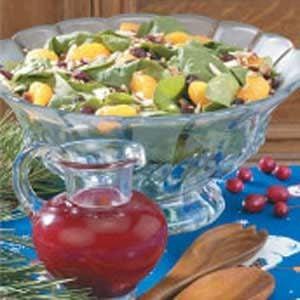 Salad with Cran-Raspberry Dressing Recipe