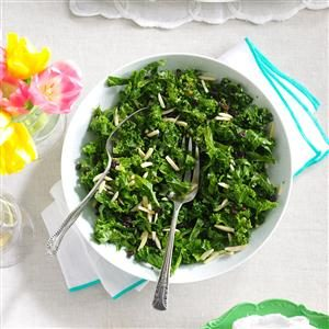 Honey Kale Currant & Almond Salad Recipe