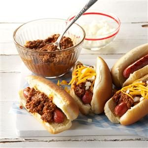 Beefy Chili Dogs Recipe