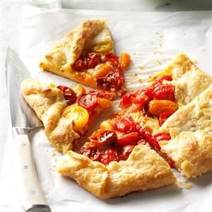 Heirloom Tomato Galette with Pecorino
