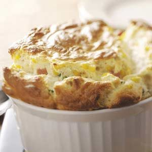 Ham and Corn Souffle Recipe