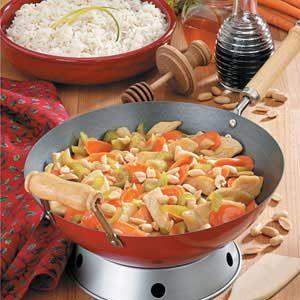 Honey-Nut Chicken Stir-Fry Recipe