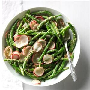 Green Beans and Radish Salad with Tarragon Pesto Recipe