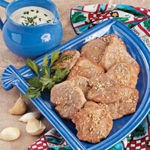 Pork with Garlic Cream Sauce Recipe