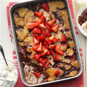 Chocolate-Covered Strawberry Cobbler Recipe