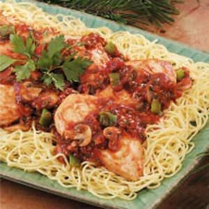 Zippy Chicken Cacciatore