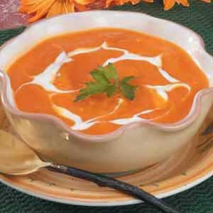 Chilled Squash and Carrot Soup Recipe