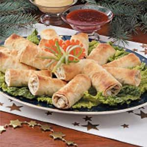 Phyllo Turkey Egg Rolls Recipe