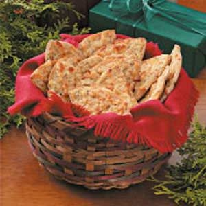 Cheesy Pita Crisps Recipe
