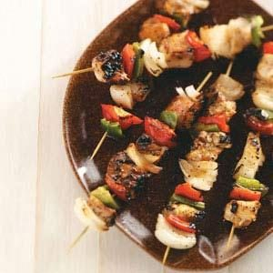 Tender Glazed Chicken Kabobs