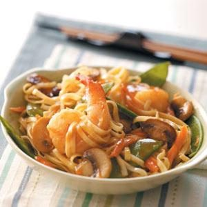 Thai-Style Shrimp Linguine