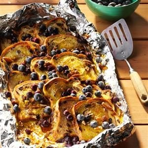 Blueberry-Cinnamon Campfire Bread
