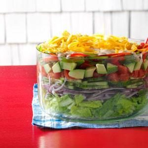 Fresh Mexican Layered Salad