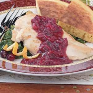 Chicken with Cranberry-Orange-Pecan Sauce Recipe