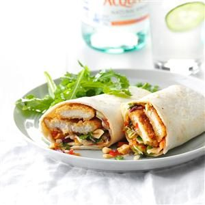 Asian Chicken Crunch Wraps Recipe