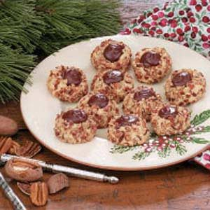 Chocolate Pecan Thumbprints Recipe