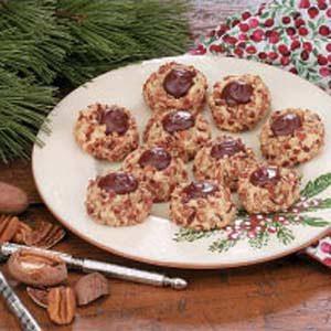 Chocolate Pecan Thumbprints Recipe