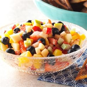 Fruit Salad Salsa with Cinnamon Tortilla Chips Recipe