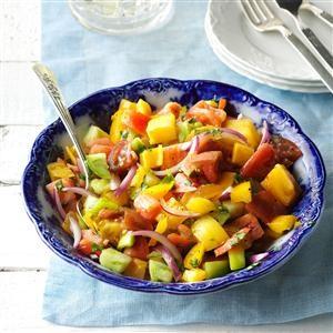 Basil & Heirloom Tomato Toss Recipe