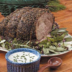 Herbed Roast Beef with Horseradish Sauce Recipe