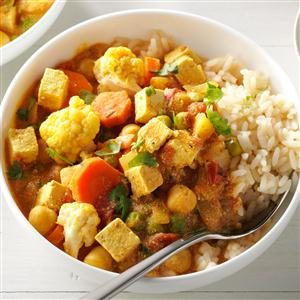 Cauliflower & Tofu Curry