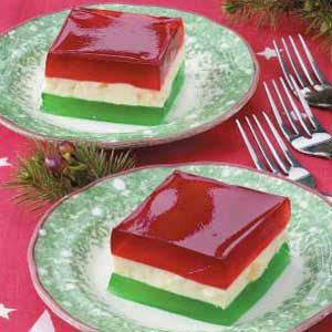 Holiday Ribbon Gelatin Recipe