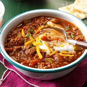 Double-Duty Hearty Chili Without Beans Recipe
