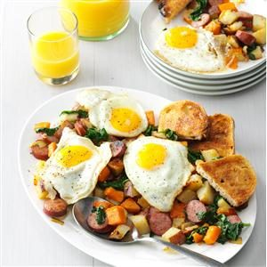 Smoked Sausage Breakfast Hash