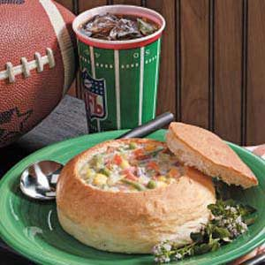 Super Bowl Bread Bowls