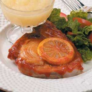 Lemon Barbecued Pork Chops Recipe