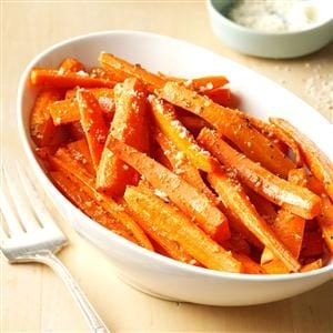 Roasted Parmesan Carrots Recipe