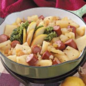 Tangy Franks and Pears Recipe