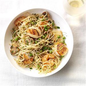Sauteed Scallops Shrimp Pasta Recipe