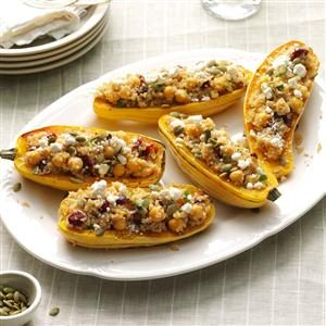 Quinoa-Stuffed Squash Boats Recipe