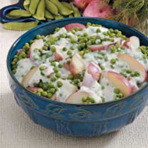 Creamy Potatoes 'n' Peas Recipe