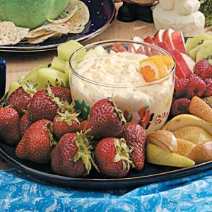Orange-Ginger Fruit Dip Recipe