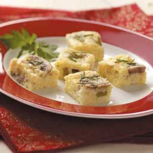 Cheesy Mushroom Morsels Recipe